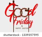 good friday vector illustration ... | Shutterstock .eps vector #1339357595