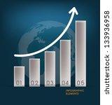 business graph. vector... | Shutterstock .eps vector #133936958