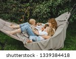 Mother With Children Having Fun ...