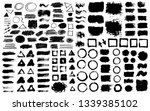 brush strokes text boxes.... | Shutterstock .eps vector #1339385102