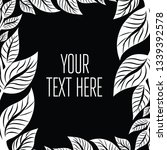black and white vector greeting ... | Shutterstock .eps vector #1339392578