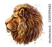 lion. artistic  color profile... | Shutterstock .eps vector #1339399682