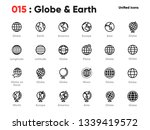 set of globe line unified icons.... | Shutterstock .eps vector #1339419572