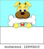 cute dog vector of illustration | Shutterstock .eps vector #133943615