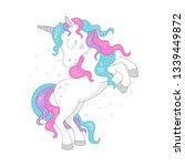 amazing glitter unicorn for t... | Shutterstock .eps vector #1339449872