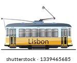 vintage tram. typical tram of... | Shutterstock .eps vector #1339465685