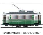 vintage tram. typical tram of... | Shutterstock .eps vector #1339472282