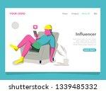 man influencer illustration for ... | Shutterstock .eps vector #1339485332