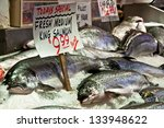 Fresh Fish On Ice For Sale At...