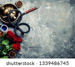 hookah with rose aroma for... | Shutterstock . vector #1339486745