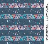 seamless vector geometrical... | Shutterstock .eps vector #1339490252