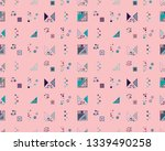 seamless vector geometrical... | Shutterstock .eps vector #1339490258