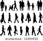 walking silhouette | Shutterstock .eps vector #13394920