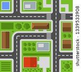 city top view. town map... | Shutterstock . vector #1339533908