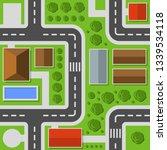city top view. town map... | Shutterstock . vector #1339534118