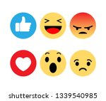 abstract funny flat style emoji ... | Shutterstock .eps vector #1339540985
