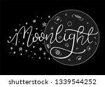 night sky  moon and stars.... | Shutterstock .eps vector #1339544252