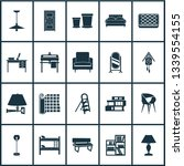 interior icons set with... | Shutterstock .eps vector #1339554155