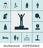 human icons set with winner ... | Shutterstock . vector #1339556462