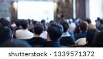 audience listens to lecturer at ...   Shutterstock . vector #1339571372