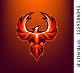 red phoenix for esport and... | Shutterstock .eps vector #1339586045
