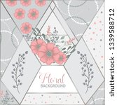 floral patchwork pattern with... | Shutterstock .eps vector #1339588712