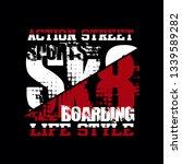 brooklyn new york skateboard... | Shutterstock .eps vector #1339589282