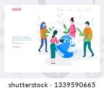 vector illustration. people... | Shutterstock .eps vector #1339590665