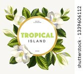 tropical summer design with... | Shutterstock .eps vector #1339606112