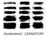 vector set of hand drawn brush... | Shutterstock .eps vector #1339607195