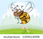 vector illustration of funny... | Shutterstock .eps vector #1339614098