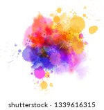 multicolored splash watercolor... | Shutterstock .eps vector #1339616315