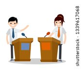 presidential debate. dialogue... | Shutterstock .eps vector #1339617068