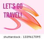 wavy colorful brush stroke line.... | Shutterstock .eps vector #1339617095