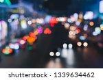 defocused night city life  cars ...   Shutterstock . vector #1339634462