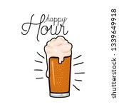 happy hour label with beer... | Shutterstock .eps vector #1339649918
