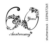 60 years anniversary. happy... | Shutterstock .eps vector #1339657265