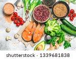 organic food. assortment of... | Shutterstock . vector #1339681838