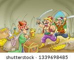 ali baba and the forty thieves | Shutterstock . vector #1339698485