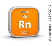 radon material on the periodic... | Shutterstock . vector #133972742