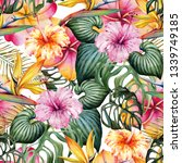 seamless watercolor pattern of... | Shutterstock . vector #1339749185