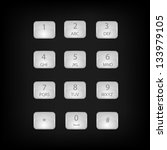 vector number phone keypad... | Shutterstock . vector #133979105