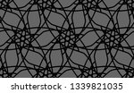 geometric ornament. black and... | Shutterstock .eps vector #1339821035
