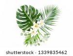 pattern of tropical green...   Shutterstock . vector #1339835462