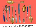 vintage cutlery on a living... | Shutterstock . vector #1339835978