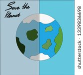 banner save the planet. the... | Shutterstock .eps vector #1339836698