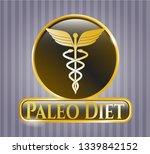 golden badge with caduceus...   Shutterstock .eps vector #1339842152