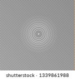 sonar waves isolated on... | Shutterstock .eps vector #1339861988