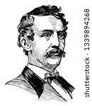 John Wilkes Booth 1838 to 1865 he was an American actor and assassin who murdered President Abraham Lincoln at Fords Theatre in Washington vintage line drawing or engraving illustration
