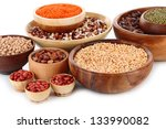 different kinds of beans in... | Shutterstock . vector #133990082